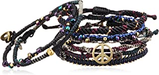 [ワカミ] wakami ブレスレット Earth Bracelet 7 Strand Black WA0389BLK