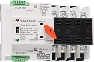 GAEYAELE W2R Mini ATS 4P 110V Automatic Transfer Switch Controller Electrical Type ATS Max 63A 4POLE