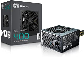 Cooler Master MasterWatt Lite 400W ATX Negro Unidad de - Fuente de alimentación (400 W, 100-240, 47-63, 3.5-5, Activo, 120 W)