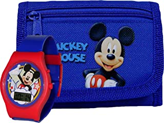 New Mikey Mouse Wallet and LCD Watch