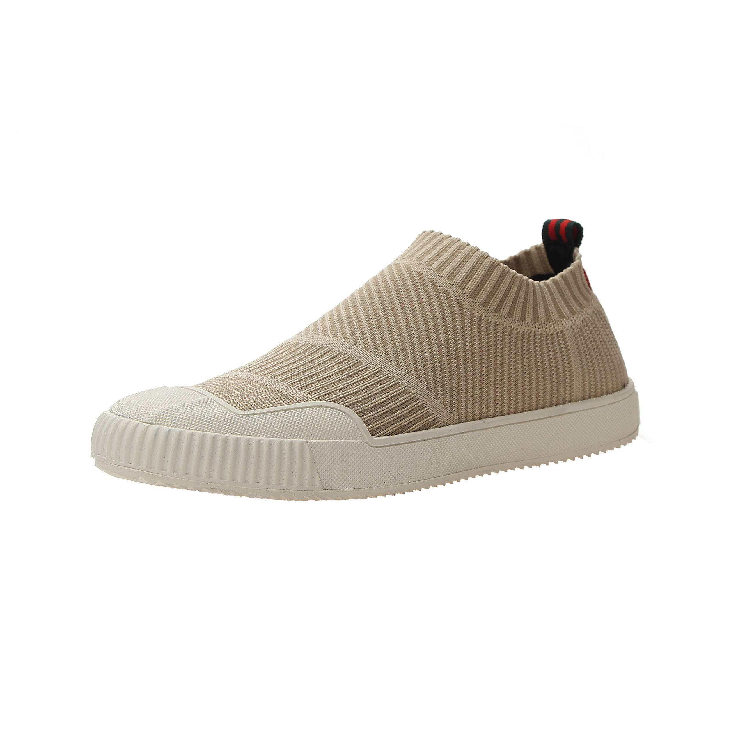 VOCANU TRE英国の春と夏の新しい伸縮性のある靴下靴高品質のコールドボンドシューズカジュアルシューズを飛ぶのを助けるために低く