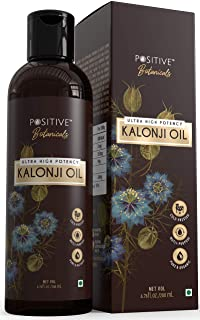 POSITIVE Kalonji Oil for Hair Growth & Overall Wellness | Black Seed Oil | Botanicals | Pure & Cold Pressed | 200mL