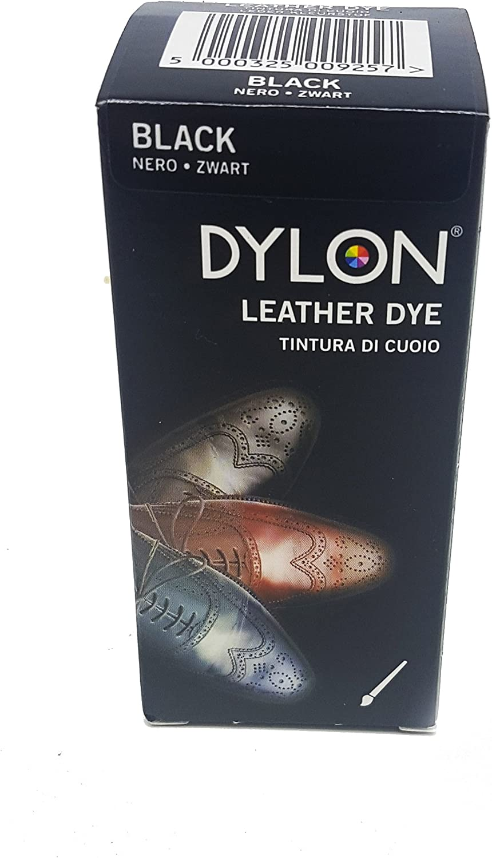 Dylon Tinte Negro para Zapatos de Cuero 2100310101, 50 ml