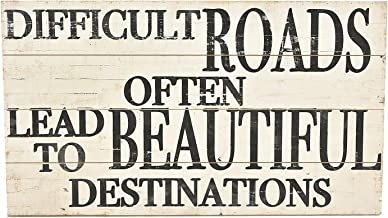Paris Loft 39''x22''Rustic Reclaimed Wood Hanging Signs with Text Quote Different Roads Always Leads to Beautiful Destinations. Inspired Wood Wall Sign Wall Art Decor