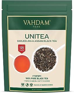 VAHDAM, UNITEA Schwarztee 100 Tassen   Mischung aus Darjeeling-Tee und Assam-Tee   100% reine schwarze Teeblätter   ROBUST & FLAVORY Schwarzer Tee Loose Leaf   255gm loser Tee