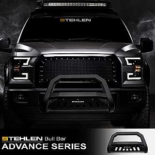 Stehlen 714937183896 Advance Series Bull Bar - Matte Black For 07-18 Chevy Silverado/Tahoe/Suburban/Avalanche/GMC Sierra Yukon / 07-14 Escalade
