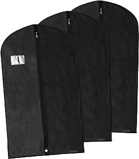 Hangerworld Lot de 3 Housses de Protection pour Vêtements/Costumes - 100CM x 60 cm