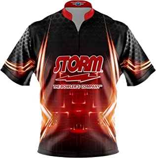 Logo Infusion Bowling Dye-Sublimated Jersey (Sash Collar) - Storm Style 0247 - Sizes S-4XL