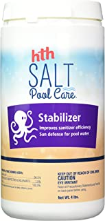 stabilizer level in saltwater pool