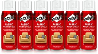 Scotchgard Fabric Water Shield, 60 Ounces (Six, 10 Ounce Cans), Repels Water, Ideal for Couches, Pillows, Furniture, Shoes...
