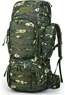 Mardingtop 50L/55L/60L/75L Molle Hiking Internal Frame Backpacks with Rain Cover