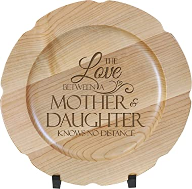 LifeSong Milestones Wooden Decorative Plate Family Keepsake 12in Mother and Daughter Housewarming Home Wall Decor Kitchen Kee