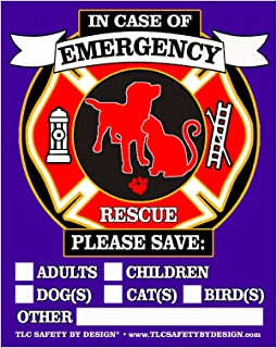 PET FIRE Rescue Trademarked Safety Alert Emergency Pet Dog Cat 4