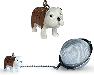 Bulldog Tea Ball Infuser | Stainless Steel Strainers - Great Gift for Tea and Dog Lovers by Simply Charmed (Bulldog)