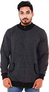 EASY 2 WEAR Men's Cotton Jacket Without Hood (Size S to 5XL)(Light Weight)