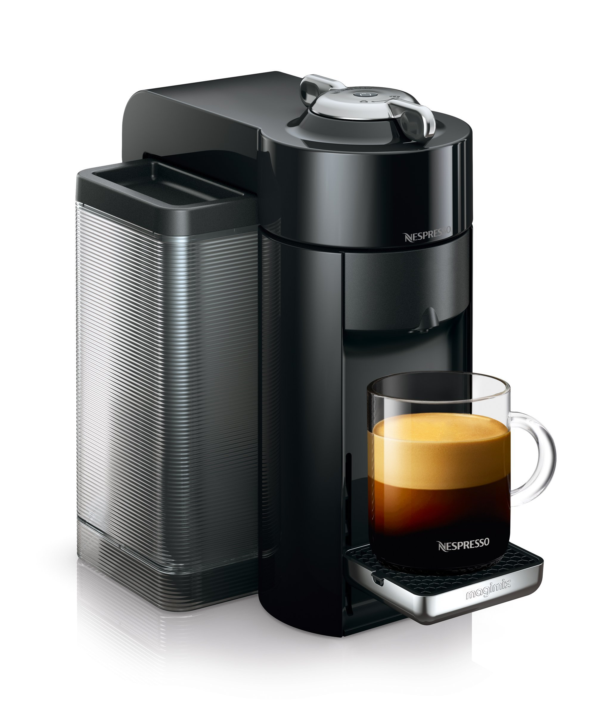 Nespresso Vertuo Coffee Machine, Black finish by Magimix 11390 Claim 100 coffee capsules plus 2 months' (1st & 6th) coffee subscription for free
