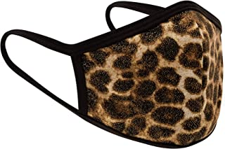 3 Pack Made in USA Adult Women's Large Metallic Yellow Gold Leopard Print 3D Face Mask – Protective, Reusable, Comfortable...