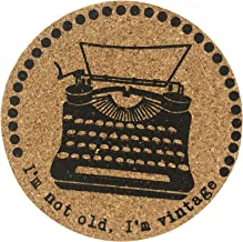 Ganz Icon Cork Coasters I am not Old. I'm Vintage - Typewriter
