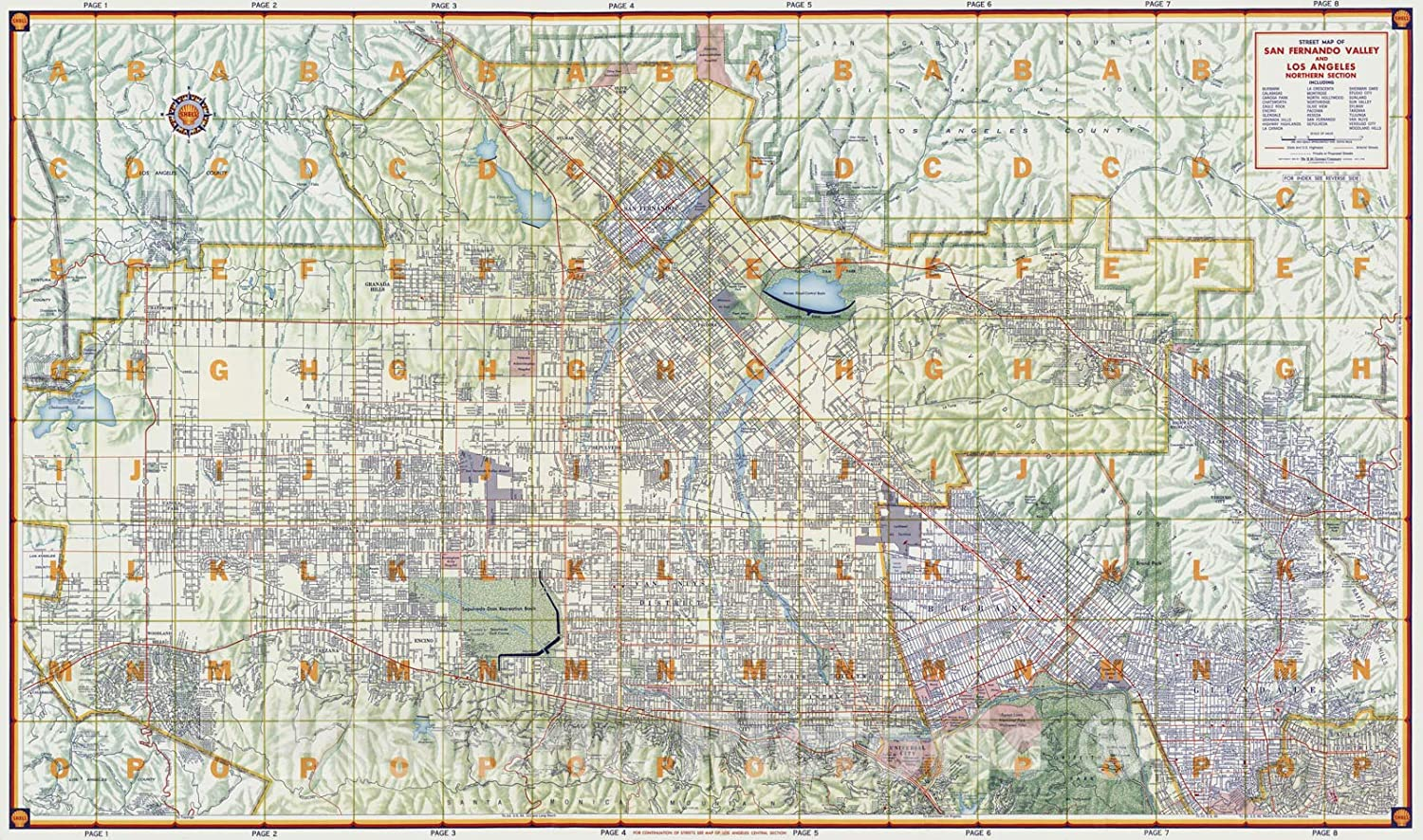 Amazon.com Historic Map   Street Map of San Fernando Valley and ...