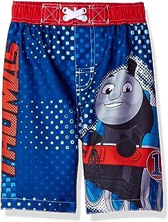cb06dca007 Thomas Train Boys Blue Swim Trunks Swimwear