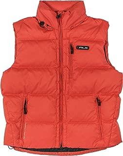 RLX By Ralph Lauren Men Fashion Logo Down Jacket Vest (XL, Orange)