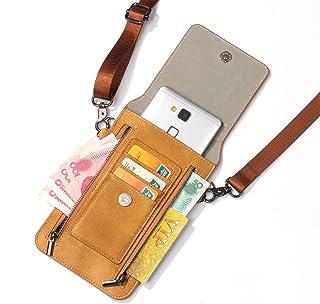 iPhone XS Max ケース レザー INorton 多機能スマホポーチ 保護カバー 財布型 軽量 カード お金収納 ストラップ付き iPhone X /8/8Plus/7/7Plusなど6.5インチ汎用