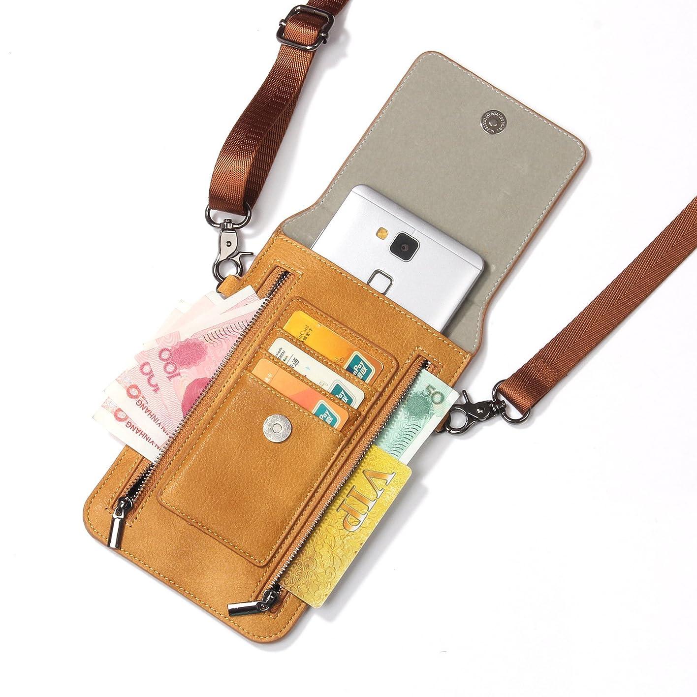 早い内陸同盟iPhone XS Max ケース レザー INorton 多機能スマホポーチ 保護カバー 財布型 軽量 カード お金収納 ストラップ付き iPhone X /8/8Plus/7/7Plusなど6.5インチ汎用