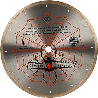 "QEP 6-1008BW Black Widow 10"" Wet Tile Saw Micro-Segmented Diamond Blade for.."