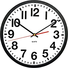 Tempus® TC6236RF Contemporary Commercial Wall Clock with Frame and Quartz Movement, 13