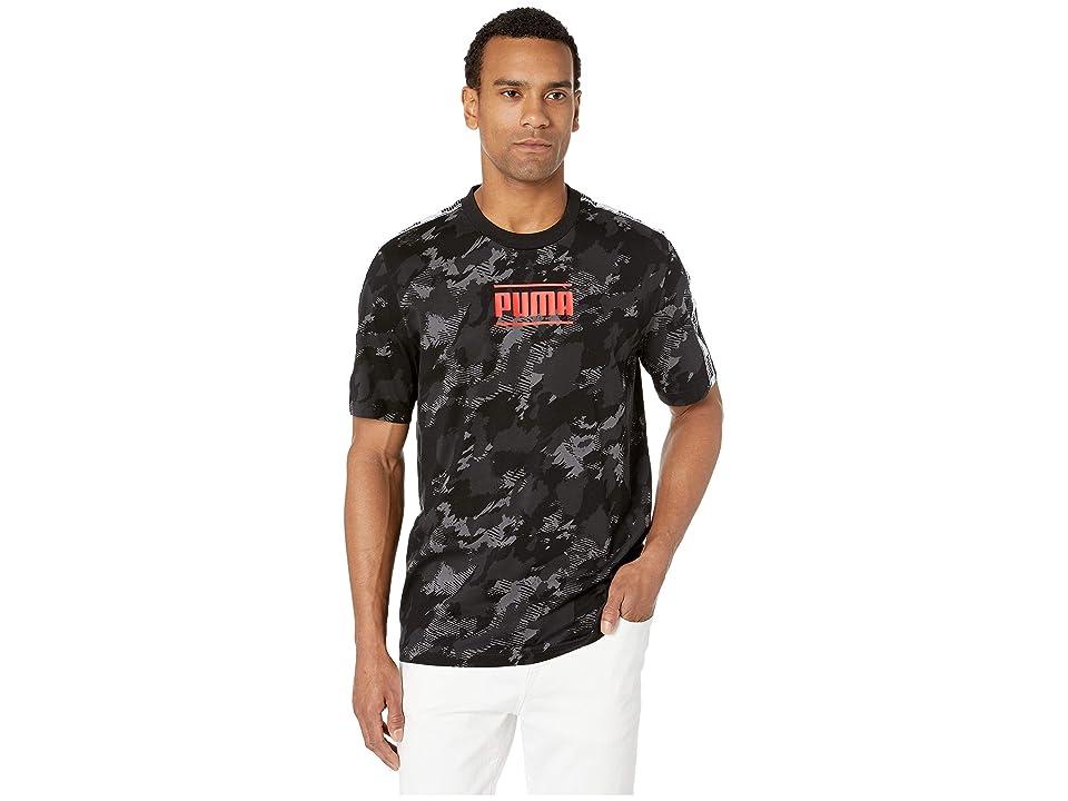 6f0fae3381f PUMA Camo Pack AOP Tee (Iron Gate AOP) Men s T Shirt