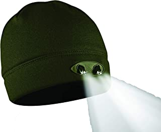 Panther Vision ® - Gorro de Lana para Hombre y Mujer con luz LED incorporada y Color Verde Ideal para Caza, Pesca, Trail, Acampada o Cualquier Actividad en la Que se necesite luz