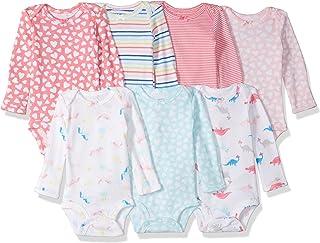 Carter's Baby Girls' 7-Pack Long-Sleeve Bodysuits