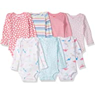 Carter's Baby Girls' 7-Pack Long-Sleeve Bodysuits