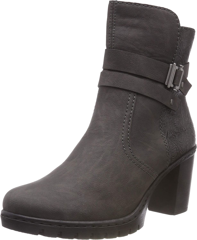 Rieker Women Ankle Boots Grey, (fumo grey) Y2580-45