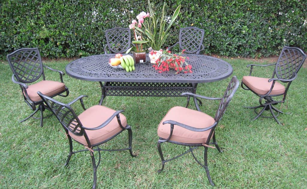 Dining Sale Set Outdoor Cast Aluminum Patio B Furniture Special price with 7 Peice