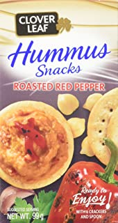 Clover Leaf Hummus Snack Kit with Red Pepper, 12 Count