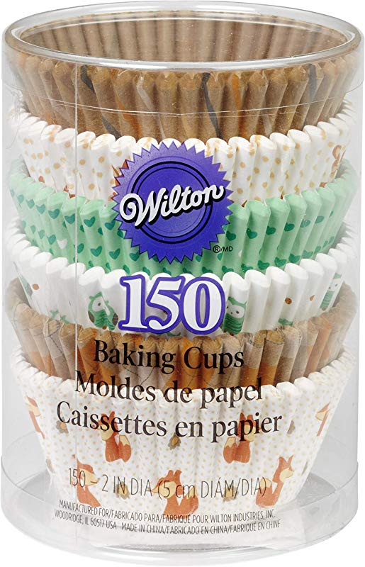 Wilton 415 2870 150 Count Woodland Animals Baking Cups Value Pack Assorted