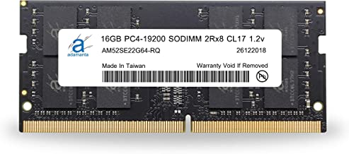 Adamanta 16GB (1x16GB) Laptop Memory Upgrade Compatible for Lenovo Flex, Legion, IdeaCentre, IdeaPad, ThinkCentre DDR4 2400Mhz PC4-19200 SODIMM 2Rx8 CL17 1.2v RAM DRAM P/N: 4X70N24889