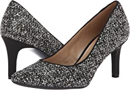 Black/White Metallic Tweed