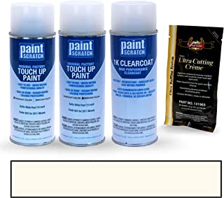 PAINTSCRATCH Satin White Pearl Tri-Coat QX3 for 2011 Nissan Altima - Touch Up Paint Spray Can Kit - Original Factory OEM Automotive Paint - Color Match Guaranteed