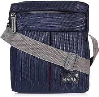 Kripa Men and Women's Polyester Cross Body Messenger Sling Bag (Navy)