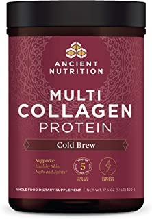 Multi Collagen Protein Powder, Cold Brew, Formulated by Dr. Josh Axe, 5 Types of Food Sourced Collagen Peptides, Supports ...