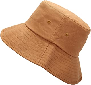 Samtree Washed Cotton Bucket Hat for Women and Men Travel Fishing Caps Summer Foldable Brim Sun Hat
