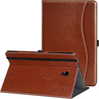 Ztotop Folio Case for Samsung Galaxy Tab A 10.5 Inch 2018(SM-T590/T595/T597), Leather Folding Stand Cover with Auto Wake/Sleep, Pencil Holder and Multiple Viewing Angles,Brown