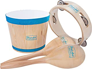 First Act Discovery Percussion Pack, Bongo, Maracas, Tambourine