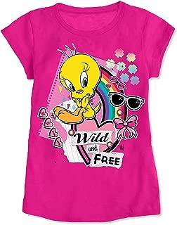 Bird Little Girls' Toddler Short Sleeve Shirt Wild and Free