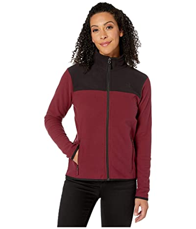 The North Face TKA Glacier Full Zip Jacket (Deep Garnet Red/TNF Black) Women