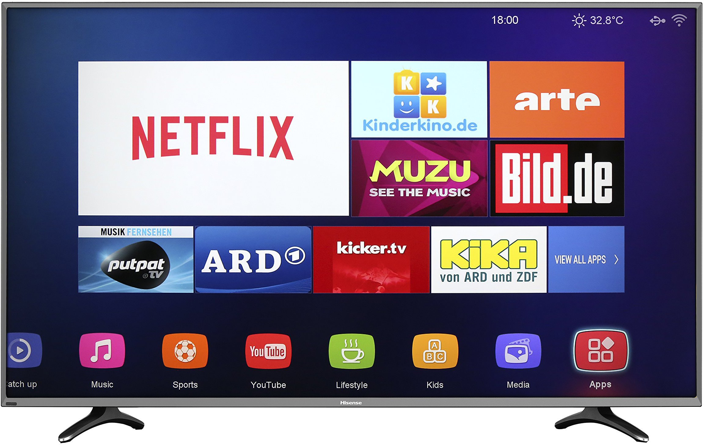 Hisense Smart 4K Ultra HD LED 55-Inch TV (2015 Model), [Importado de UK]: Amazon.es: Electrónica