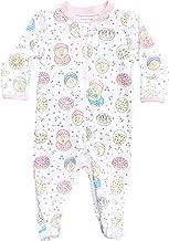 Noomie Baby Girls' 100% Pima Cotton Zipper Footie
