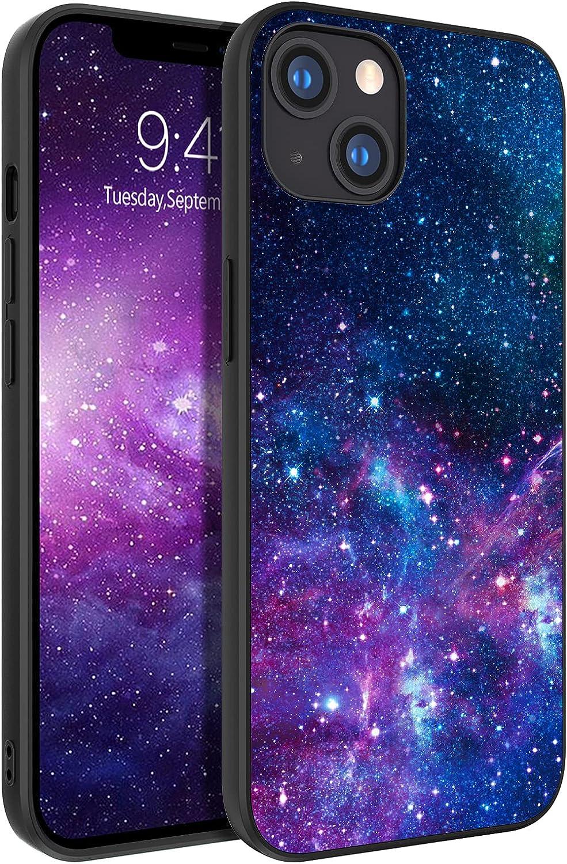 BENTOBEN Funda iPhone 13, Carcasa iPhone 13 Cover Ultra Delgada Moda Nebulosa Resistente 2 en 1 Híbrido Duro PC & Ssuave TPU Silicona Protectora Cuero Completa Antichoque Fundas para iPhone 13 6.1